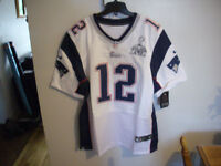 Chandails Tom Brady Patriotes Blanc XL