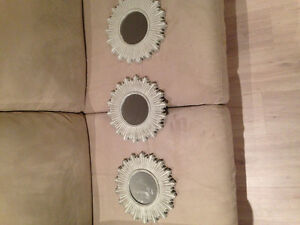 3 HOMESENSE Round Framed Mirrors