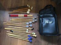Percussion mallets & bag bundle