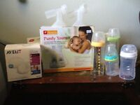 "Ameda ""Purely yours"" double breast pump."