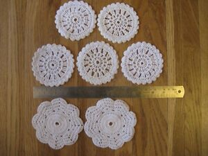 Set of 7 small doilies-great for vintage wedding decor