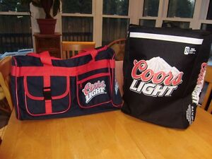 COORS LIGHT AND MOLSON CANADIAN COOLER BAGS AND DUFFLE BAG