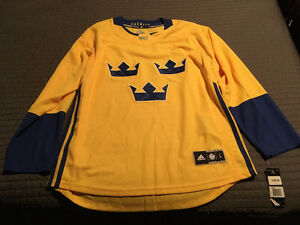 2016 OFFICIAL WORLD CUP OF HOCKEY TEAM SWEDEN JERSEY MEN'S LARGE