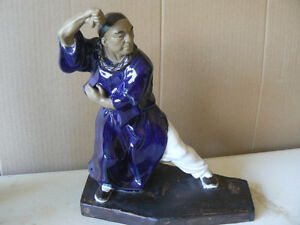 Martial Arts Shiwan monks Ceramic figures. West Island Greater Montréal image 8