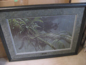 ROBERT BATEMAN'S SHADOW OF THE RAINFOREST LE FRAMED