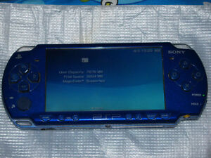 Sony PSP with Extended Battery Pack, Charger, and Case