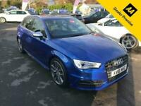 2016 Audi A3 2.0 S3 SPORTBACK QUATTRO NAV 5d 296 BHP IN METALLIC BLUE WITH ONLY