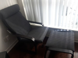 Practically new IKEA Poang chair + footstool