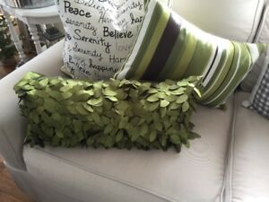 Green Pillows, Accent Pillows, Excellent Condition