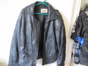 milanoza black leather jacket  size 38