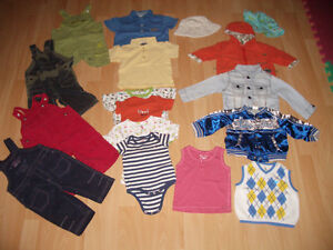 LOT - 17 - items of clothes for baby - BOY ----- size 3 - 12 m