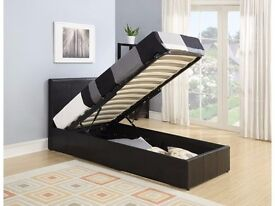 Brand New --- Cheapest Price!! Single leather storage bed with Different mattresses