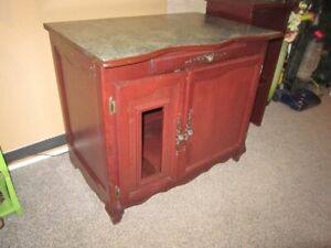 Wooden Counter Top Island Cabinet For Sale