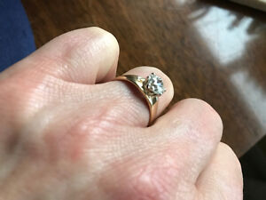 Early Modern Brilliant Cut Diamond 1.2 ct in 14 KT yellow gold London Ontario image 1