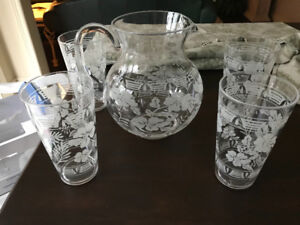 Acrylic Outdoor Glasses & Pitcher
