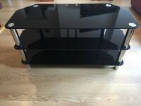 Black Glass TV Unit (extra large)