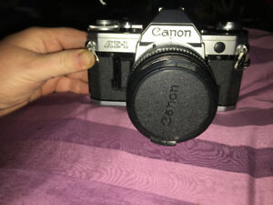 Canon AE-1 Film Camera with 3 lenses/flash