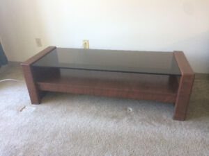 Modern Teak and Glass Coffee Table