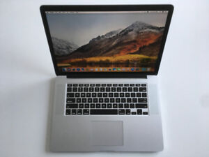 "MacBook Pro 15"" (i7, 16GB RAM, 256GB SSD) with APPLECARE"