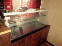 Large Commercial Dislplay Fridge Counter for shop cafe retaurant fish and chips take away