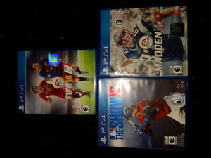 For sale ps4 games madden 17 mlb the show 16 and fifa 16