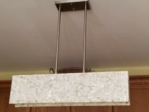 Kitchen Island Light Fixture Shell Mosaic (2 available)
