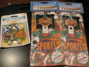 NEW Sports Party Supplies-Baseball, Football, Soccer, Basketball