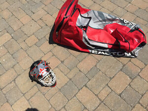 Sac de hockey Easton + un casque de gardien