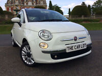 Fiat 500 1.2 ( 69bhp ) ( s/s ) 2015 LOUNGE PAN ROOF, ALLOYS, A/C ONLY 9000 MILES