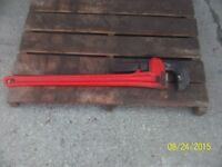 "RIGID 60"" PIPE WRENCH USED A COUPLE OF TIMES"