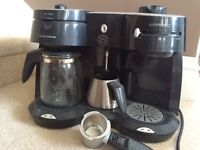 Cafe Rico Combi Coffee Maker with Frother