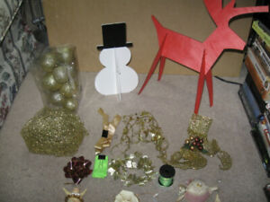 Christmas Decorations-$5 for the entire lot plus bonus furniture