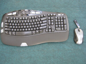 Logitech wave cordless mouse and keyboard   plug and play  works