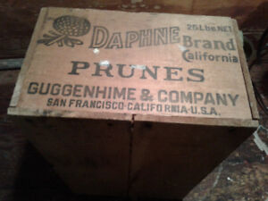 Old Wooden Prune Box