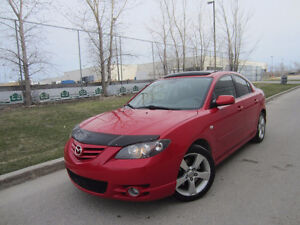 2006 MAZDA 3 GT MOON ROOF 148K WARRANTY EXTRA RIMS/TIRES