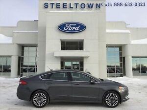 2017 Ford Fusion SE SEDAN AWD LEATHER/MOON   - $169.37 B/W