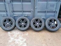 "17"" Original OEM FORD MUSTANG HOLLANDER Alloy Wheels & Tyres"