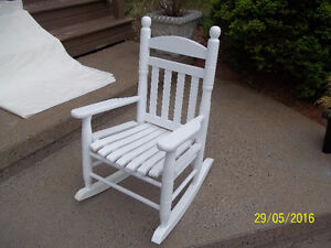 Solid Wood Children's White Rocking Chair (Shaker Style)