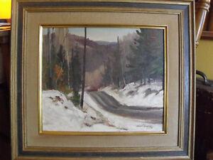 Tableau peinture à l'huile de Robert Boucher