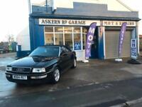 2000 Audi Convertible 1.8,74,000 MILES, AUGUST 2018 MOT,PART EXCHANGE TO CLEAR