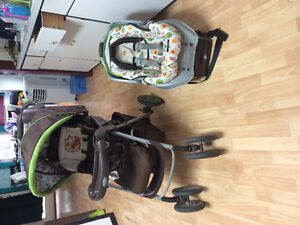 Winnie the Pooh car seat/stroller combo