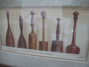 Framed Prints of Antique Wooden Spoons and Potato Mashers Prince George British Columbia image 5