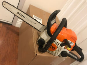 Near new STIHL MS 170 chainsaw for sale