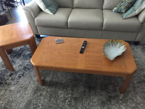 Oak Coffee table & end tables