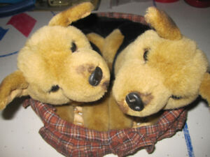 german shepherd puppy plush in basket  Box#60