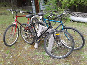 Mountain Bikes 26 inch( 2 are 18 speed, 1 is 21 speed)