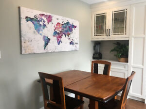 3 canvas - colourful world map