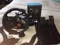 Logitech driving force gt steering wheel with gear stick