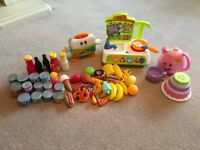 Fisher Price teapot and cup, Kitchen and Toaster, plus food!