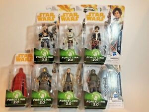 """Star Wars Force Link 2.0 Solo Wave 4 3.75"""" figures Brand New"""
